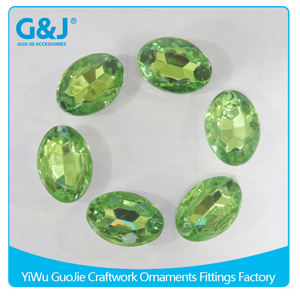 Guojie brand Pointback style for bag clothes decorative acrylic resin stones