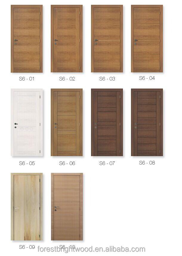 Flush door with wooden skeleton for living room pre hung for Solid wood flush door
