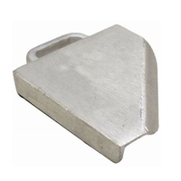 Customized silver aluminum transom corner bracket covers