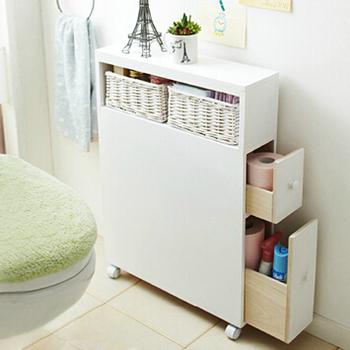 Color blanco s lido mueble de ba o de madera ba o for Gabinete de almacenamiento de bano de madera
