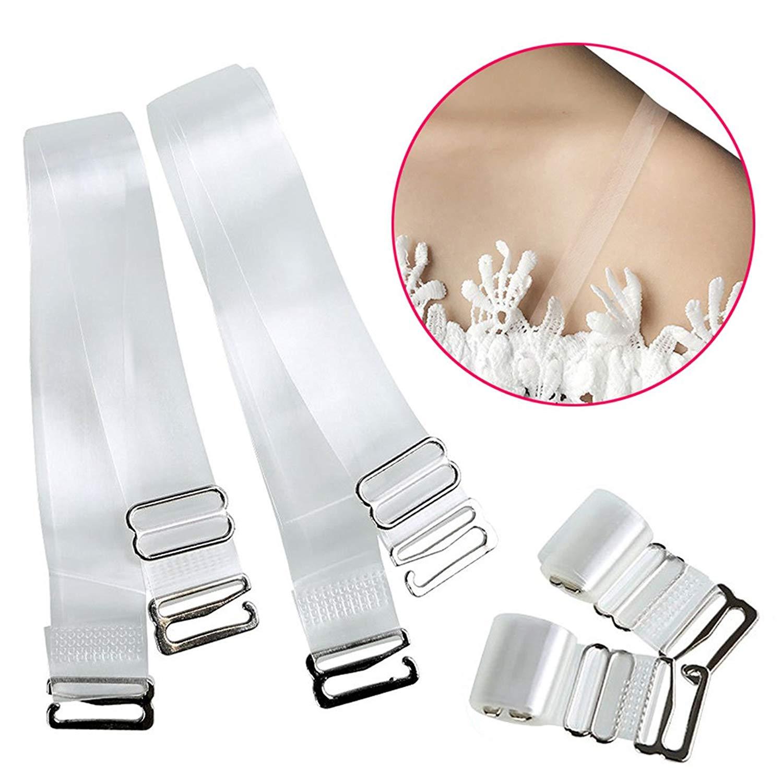 c577769cc7493 Buy Women  39 s Adjustable Low Back Bra Converter Straps 2 Hook ...