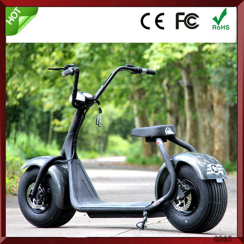 Motorbike off road electric scooter citycoco with 2 big wheels