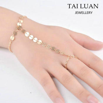 Fashion New Design Gold Chain Bracelet Jewelry Ring Bracelet