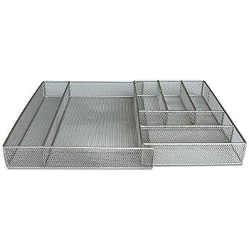 Inno-Crea Expansion and Expandable Adjustable Drawer Kitchen Metal Mesh Utensils Cutlery Tray
