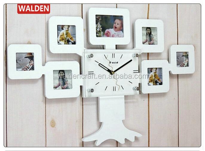 7 Imágenes En Forma De Árbol Foto Decorativa Reloj De Pared Marco De ...