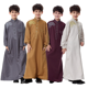 fashion Middle eastern Malaysia tunic kaftan Arabic long sleeve loose Islamic clothing children kids boy Muslim robes thobes