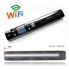 senniao SN910W potable scanner handheld HD Double roller Zero padding  WiFi Book scanner free shoping send 8G card