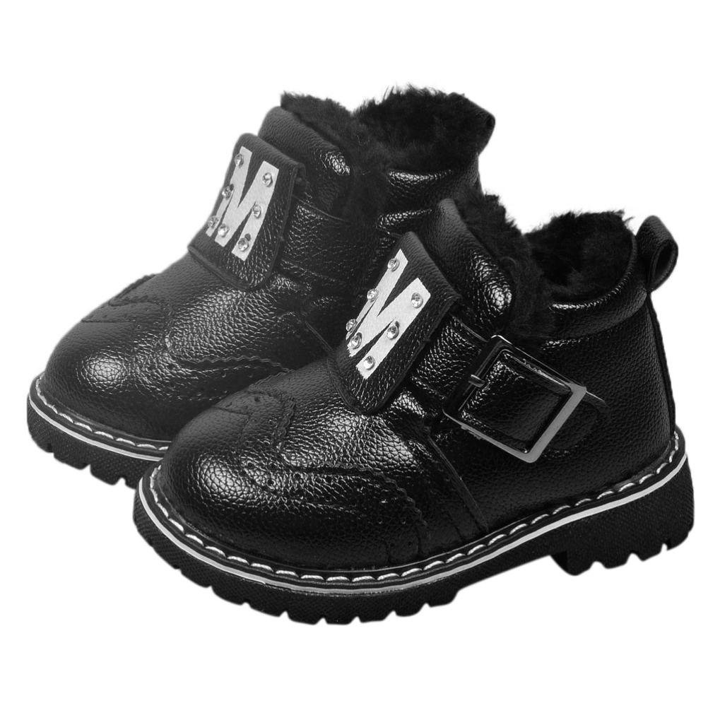 a234a2cf730e Get Quotations · WensLTD Infant Toddler Baby Girls Boys Warm Shoes Winter  Snow Boots Martin boots Leather Shoes (