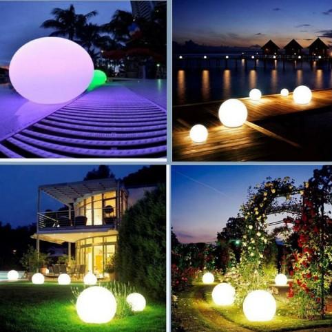 Rgb Giant Glowing Orb Led Globe String Lights/hanging Light Rgb ...