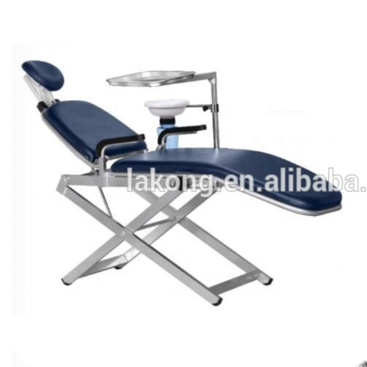 TPC Portable Unit Folded Dental Chair Foldable Chair Easy Folding Chair with Spittoon