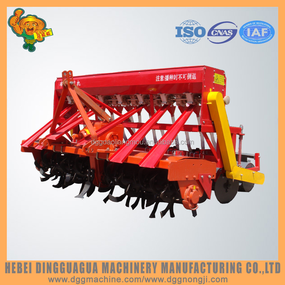 14 rows rotary tiller seeder with fertilizer machine