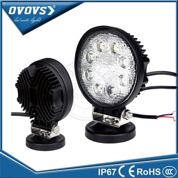 "Factory prices auto light 12V 4"" led strobe work light 24W driving lights for car accessories"