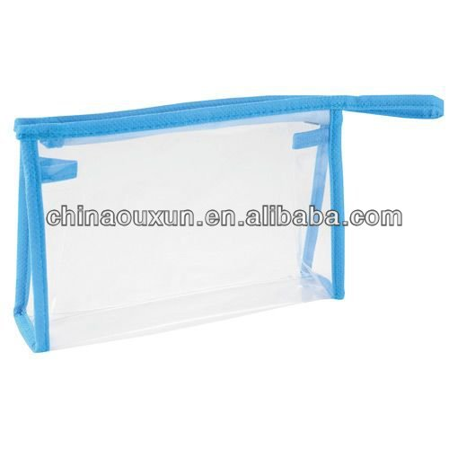 Cheap clear eco-friendly pvc cosmetic bags