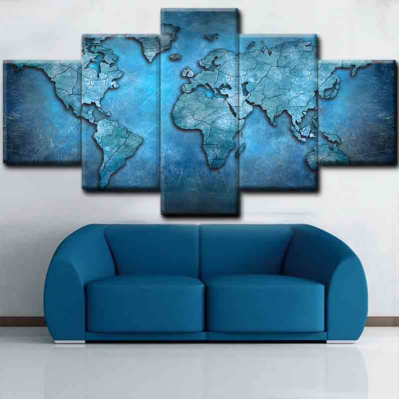 Custom Modern Fashion abstract map modern paintings <strong>Decorations</strong>