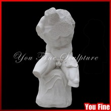 Handcarved Roman Stone Statue Of Herakles Seated On A Rock