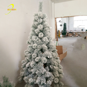 Snowing Artificial Christmas Tree With Folding Stand