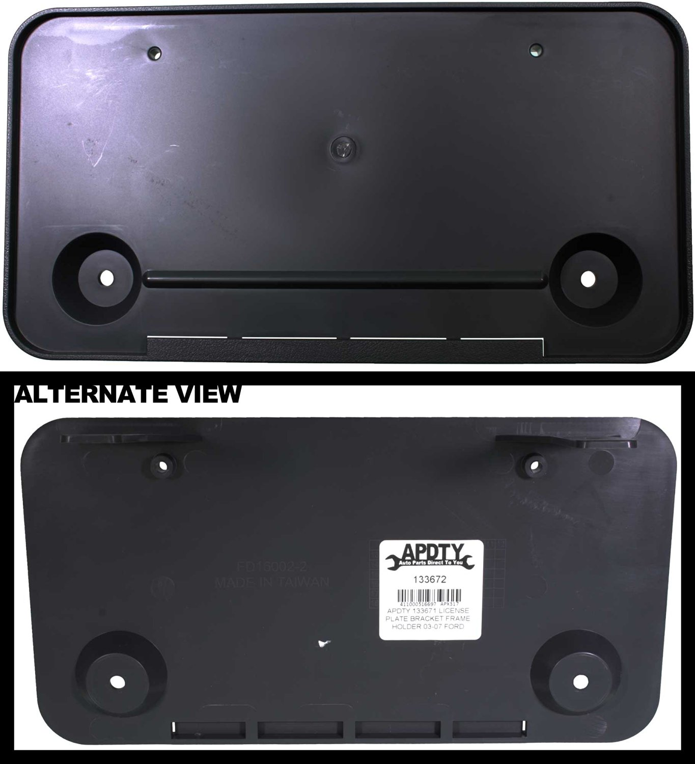 Get Quotations · APDTY 133672 License Plate Bracket Plastic Frame Holder  Fits 2003-2007 Ford Econoline E150 E250