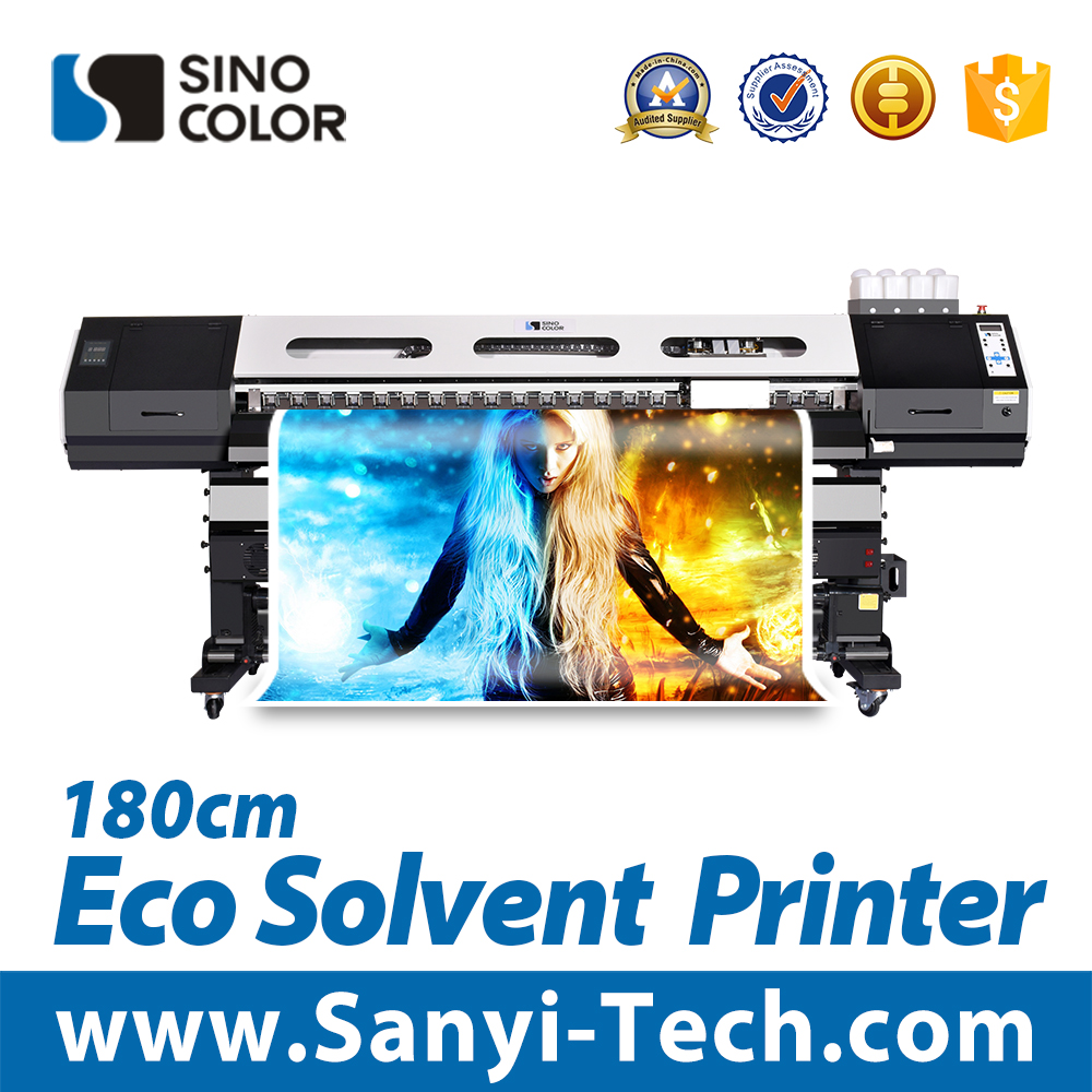 1.7m eco solvent printer with dx5 head for sticker vinyl printing