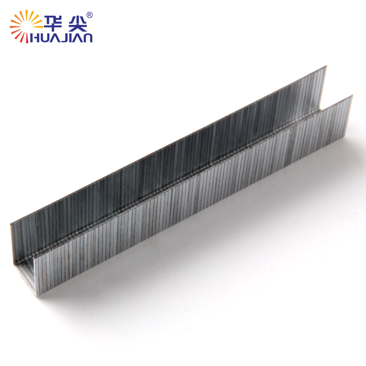 Silver color 12J series standard furniture staples/fence wooden staples