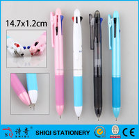 Promotional 4 ink color ball pen with logo printing
