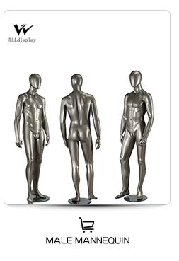 Fashion Designer Brass Mannequin Chrome สำหรับเสื้อผ้าหน้าต่างแสดงผล