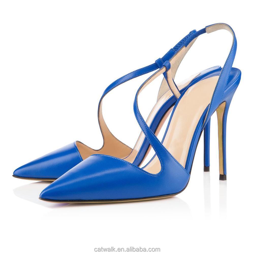 Royal Blue High Heel Shoes