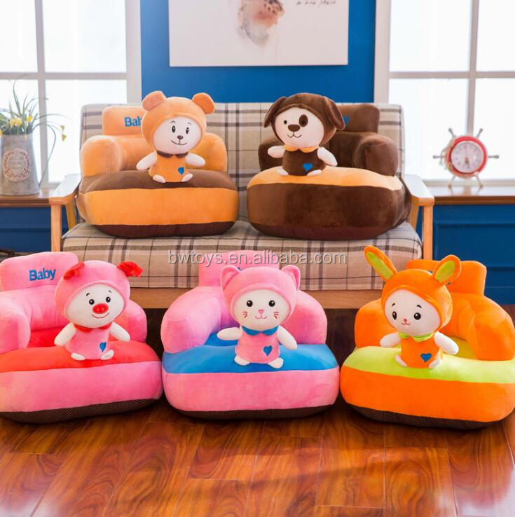 50 Thick bottom Soft Baby Support Seat bear dog rabbit cat pig Baby Kids Safety Learning To Sit Chair Seat Sofa
