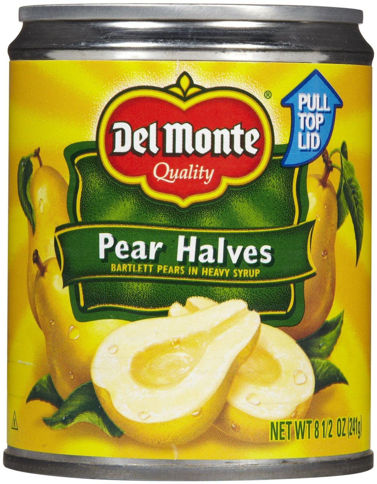 Del Monte Bartlett Pear Halves in Heavy Syrup - 8.5 oz