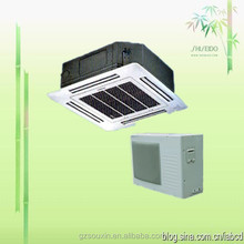 Ceiling Cassette Air conditioners split unit with red black gray white and pea green color for option