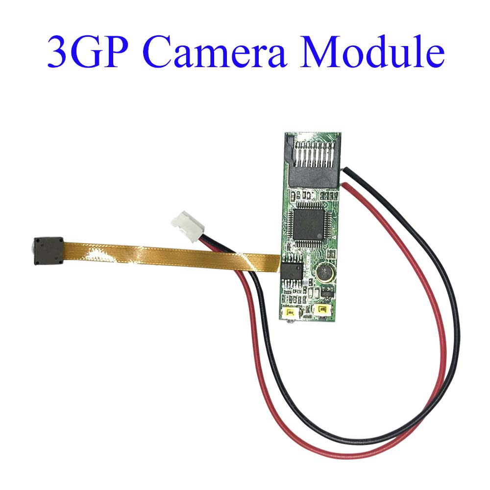 Top Rated Smallest Small Camera Module up to 32GB Micro SD Card 3GP Spy Camera