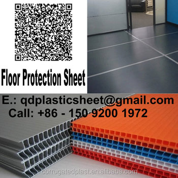 8x4 Corrugated Plastic Sheets Temporary Floor Covering