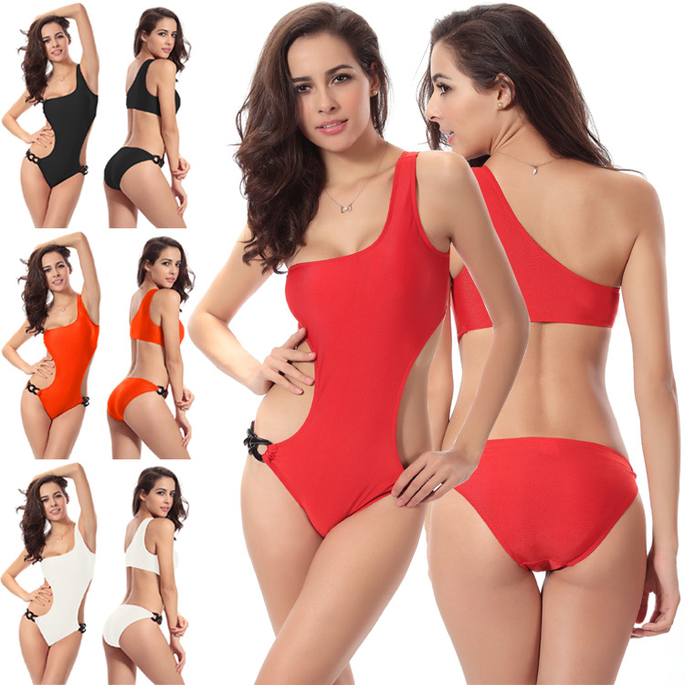 The one-piece swimsuit usually covers most of the torso and all of the butt. A special type is however the monokini, which is made in one piece but does not cover the breasts. The most common type of one-piece swimwear is the maillot or tank suit, which resembles a sleeveless leotard, or bodysuit.