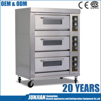 Commercial equipment 3 layer 6 tray gas bread oven / bakery machines