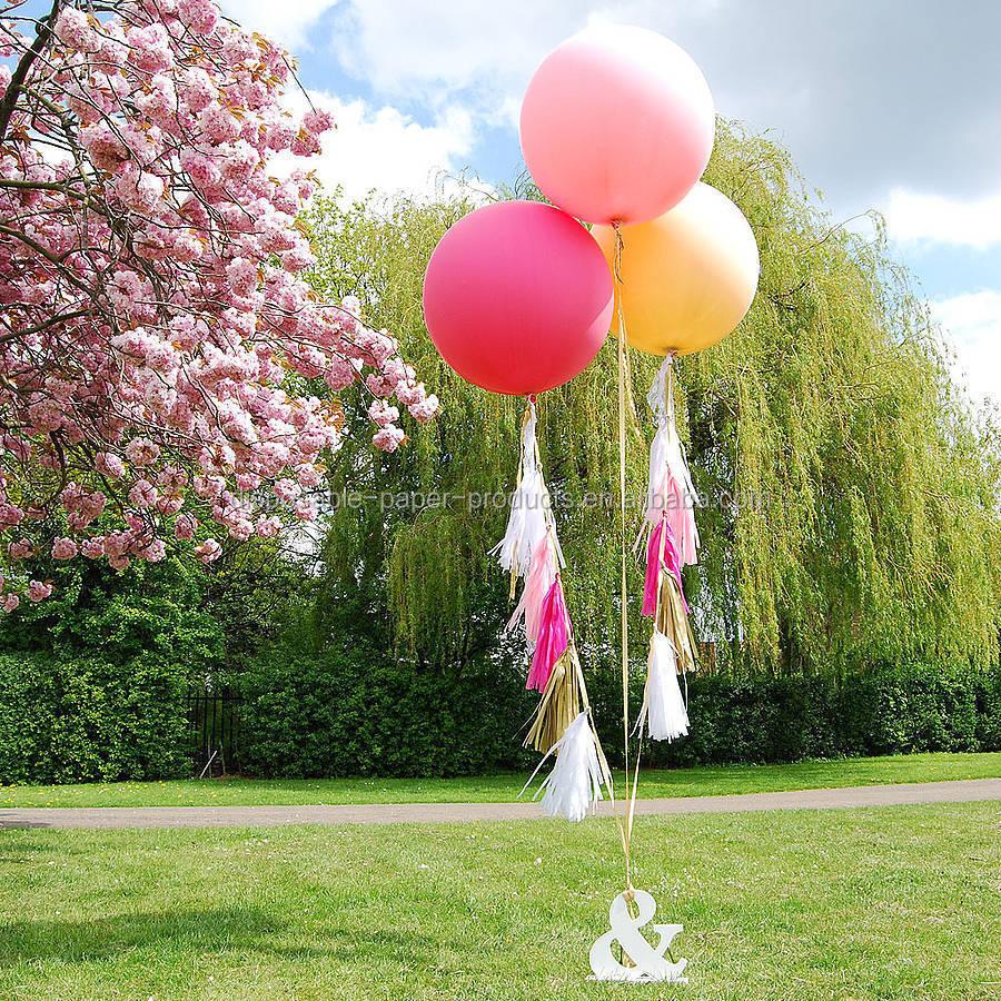 New party decoration ideas giant round tasselled helium