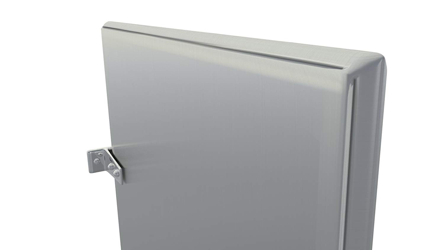 Stainless Steel Urinal Stall Partition Divider Screen With Wall Hung Mounting Brackets Kit (Stainless Steel)