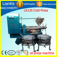 LK120 cooking oil making machine/small cold press oil machine for the production of benne oil/cold oil press