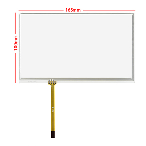 165x100 Glass Touch 7 Inch Digitizer 4 Wire Resistive Touch Panel