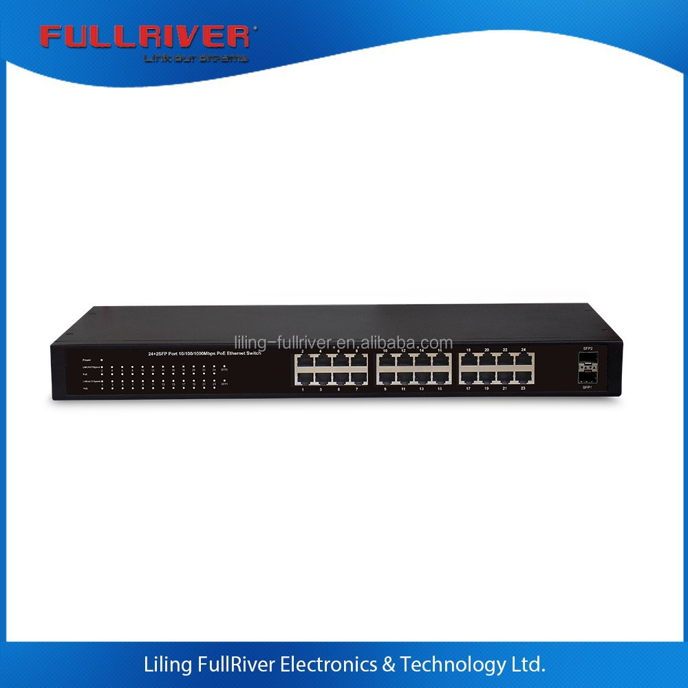 FR-S1026PEGF-C _ 24-Port 10/100/1000Mbps gigabit + 2 SFP PoE Green Ethernet Switch POE network switch 260W/400W power supply