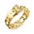 Fashion Gold Colors Adjustable Men's Copper Alloy Belt Buckle Shaped Bracelet With Rhinestone