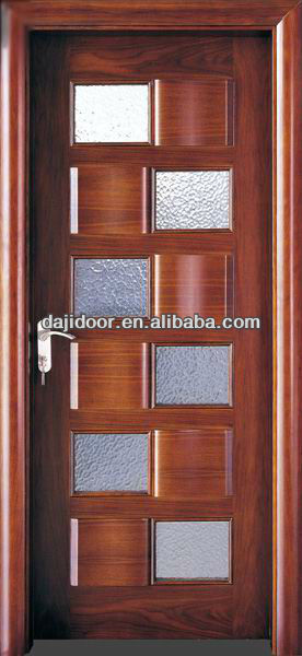 Niza dise o de madera puertas interiores de vidrio inserta for Puertas de madera con vidrio para interior
