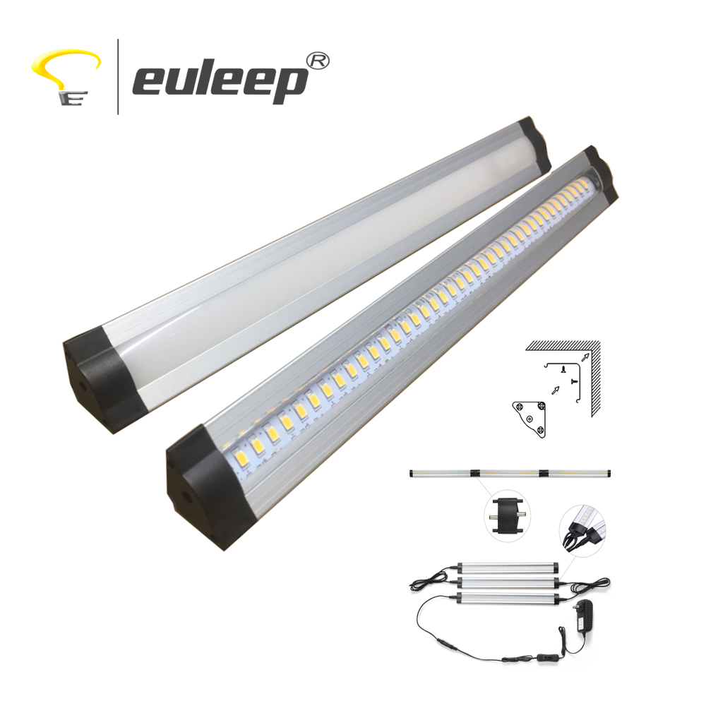 kitchen cabinet led light triangle aluminum profile led strip light ,linkable 300 500 600mm