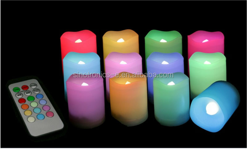 Flameless Christmas LED Color Changing Candles Wholesale