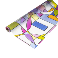 colored decorative stained glass deco film art window film