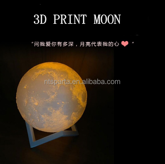 different size 3D plastic ball LED table lamps