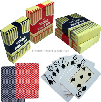 100% plastic Texas Hold'em promotion glossy PVC waterproof casino high quality in stock playing cards poker