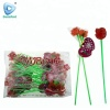 Valentine Double rose lengthen long stick lollipop
