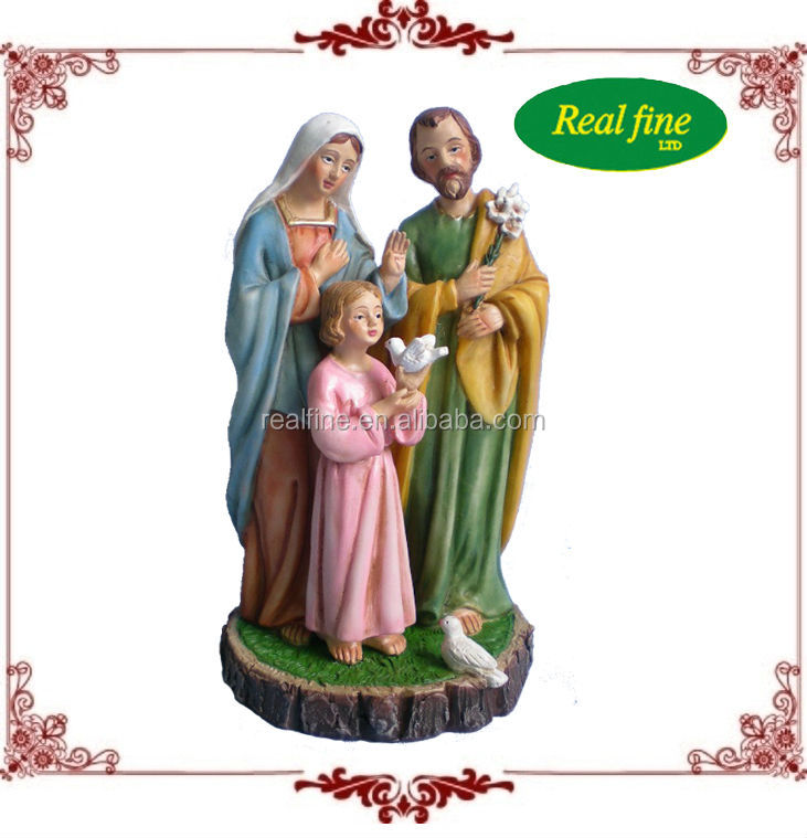 Hot sale high quality resin religious holy family