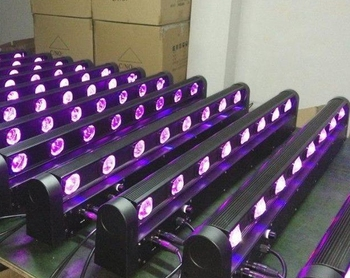 DMX control 8*10w led rgbw 4 in 1 color stage lighting color changeable sweeper led beam light