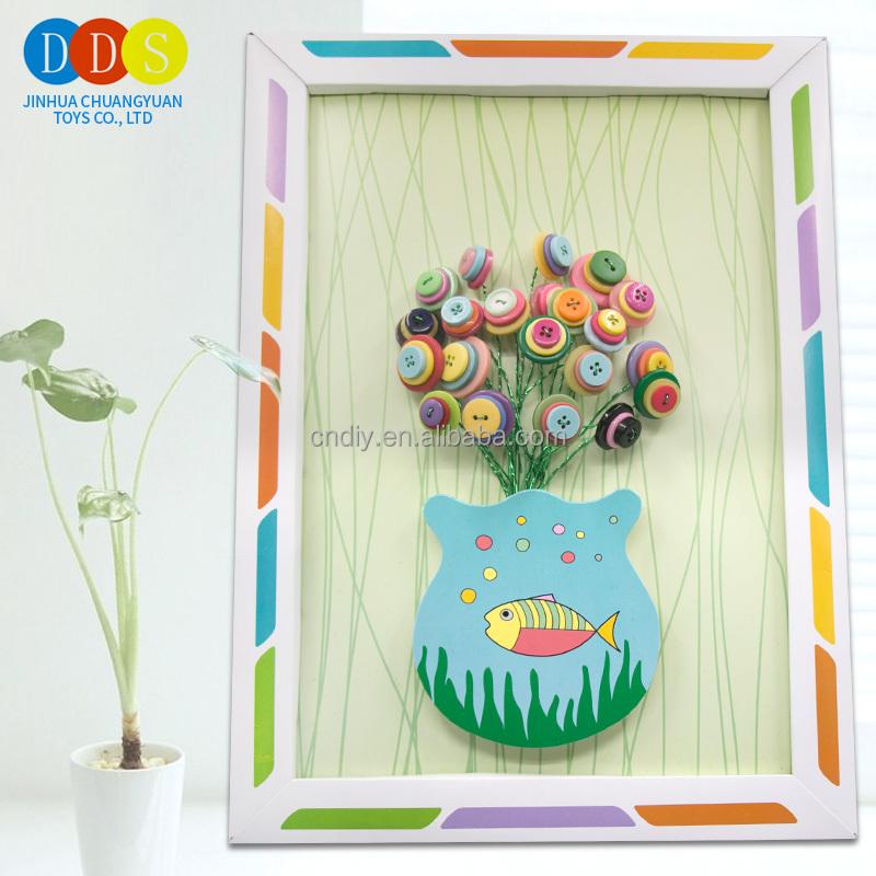 La última venta niños DIY mano papel plegable marco del arte flor ...