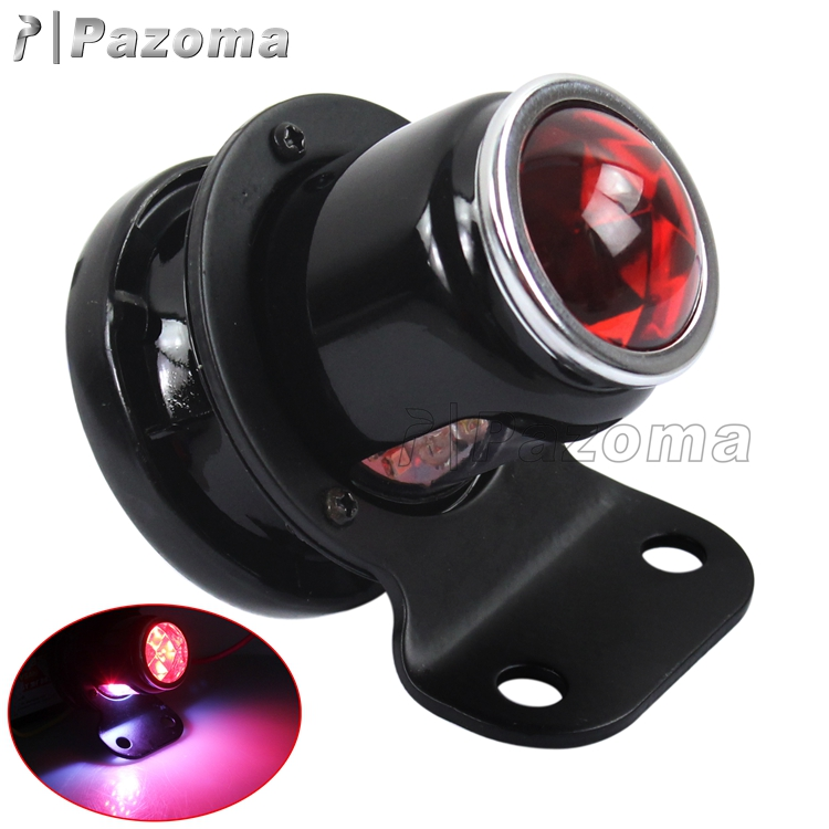 Wholesale High Quality Black Metal Lucas LED Tail light For Custom Motorcycles Choppers Bobbers